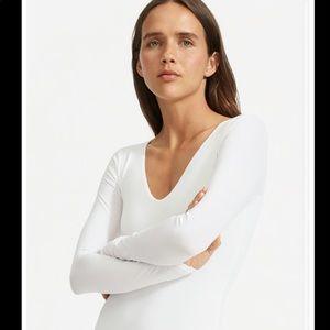 Everlane White Long-sleeve Bodysuit